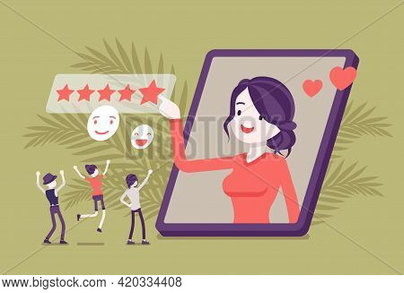 Positive Online Reputation Management, Excellent Rating Star Scale. Building And Maintaining Reputab
