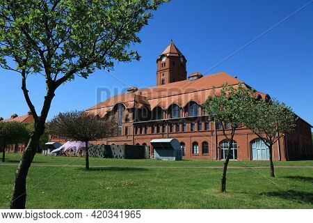 Gliwice City In Poland. Cechownia, Formerly Industrial Coal Mine Building. Repurposed As Conference