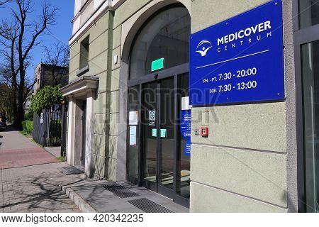 Gliwice, Poland - May 11, 2021: Medicover Private Healthcare Clinic In Gliwice City In Poland. Medic