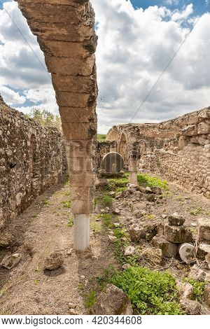 The Remains Oil Or Wine Press In The Ruins Of The Maresha City In Beit Guvrin, Near Kiryat Gat, In I
