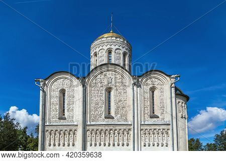The Cathedral Of Saint Demetrius Is A Cathedral In The Ancient Russian City Of Vladimir. It Was Fini