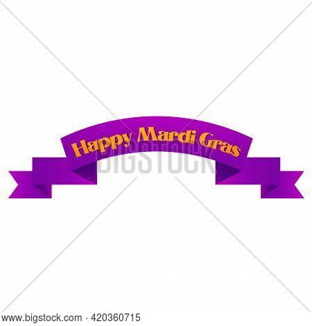 Notice Happy Mardi Grass Venice Festival Icon- Vector