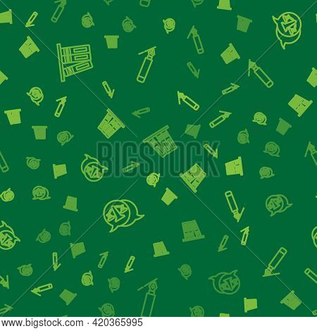 Set Line Office Folders, Scales Of Justice And Fountain Pen Nib On Seamless Pattern. Vector