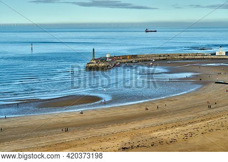 Margate, United Kingdom - February 5, 2021: The View From Arlington House In Margate Towards The Mai