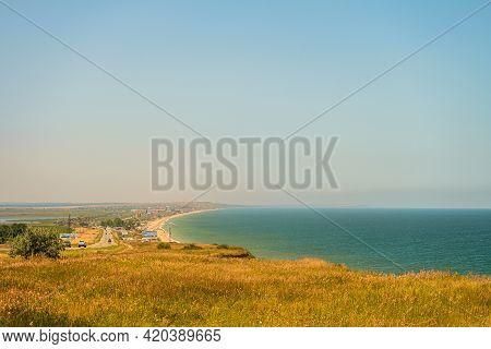 Peresyp Village And Temryuk Bay. Azov Sea, Krasnodar Region, Russia.