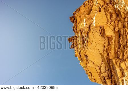 Blue Sky And Overhanging Ledge Along The Ernst Tinaja Trail