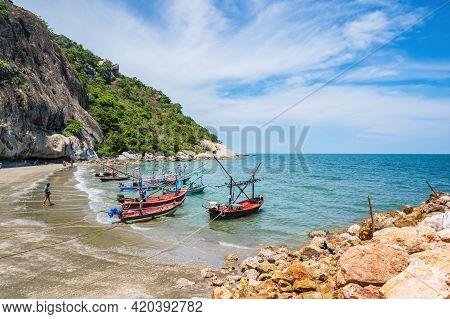 Huahin/thailand-2020/08/30:beautiful Seascape View At Huahin Prachuap Khiri Khan Thailand.hua Hin Is