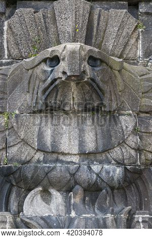 Koblenz, Germany - July 07, 2018: Bas-relief Of An Eagle On Monument To Kaiser Wilhelm I In Koblenz