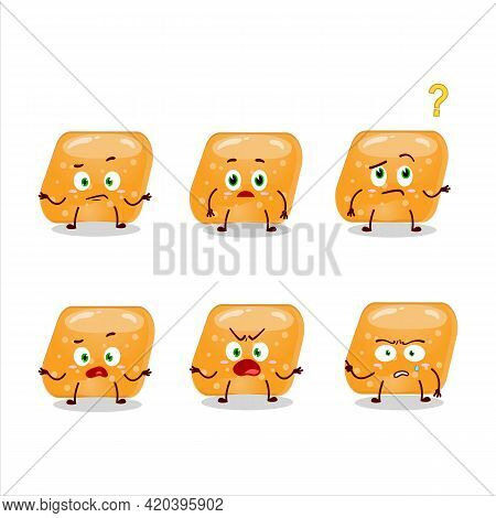 Cartoon Character Of Jelly Sweets Candy Orange With What Expression