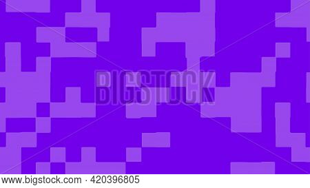 Abstract Square Pixel Background In Violet Color. Vector Illustration.