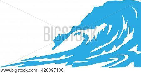 Water Wave Vector On White Background , Simplicity, Splash