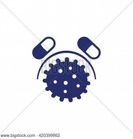 Drug Resistance Or Antibiotic Resistant Virus Icon