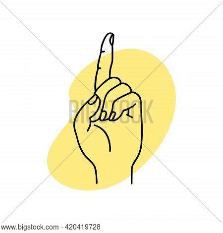 Mudra Tarjani. Hands Vector Illustration. Yogic Hand Gesture.