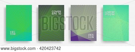 Hexagonal Halftone Pattern Cover Pages Vector Stylish Design. Hexagon Lines Texture Patterns. Party