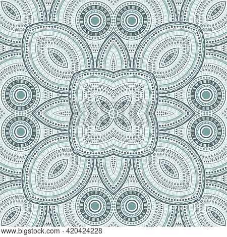 Linear Moroccan Zellige Tile Seamless Ornament. Ethnic Geometric Vector Elements. Bedcover Print Des
