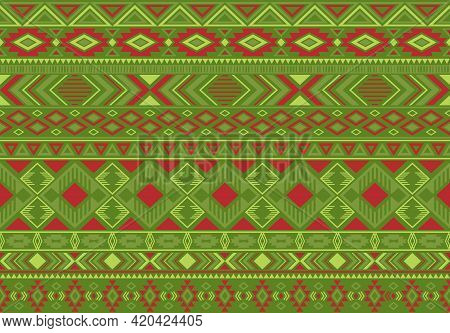 Indonesian Pattern Tribal Ethnic Motifs Geometric Seamless Vector Background. Cool Boho Tribal Motif