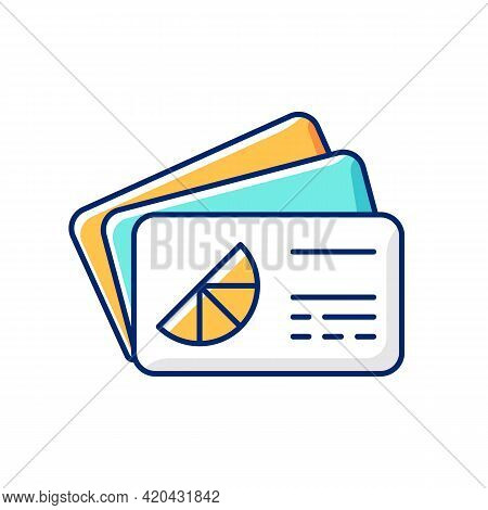 Branded Business Card Rgb Color Icon. Cards Bearing Business Information And Data About Company. Spr