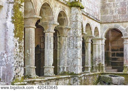 Ribeira Sacra Romanesque Archs. Santa Cristina Monastery In Ourense, Spain