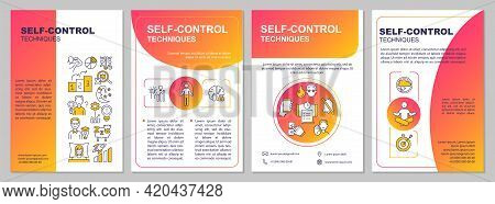 Self Control Techniques Brochure Template. Work Life Harmony. Flyer, Booklet, Leaflet Print, Cover D