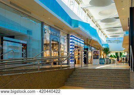 Katowice. Poland 11 May 2021. Shopping Supermarket In Silesia City Center Katowice. Interior Of Reta