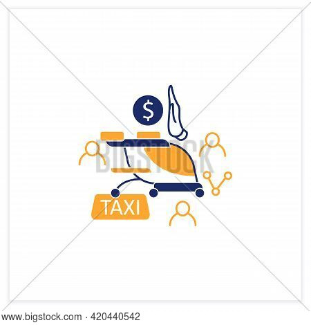 Free Air Taxi Flat Icon. Modern Technologies. Future. Available Services.digital Transformation Conc