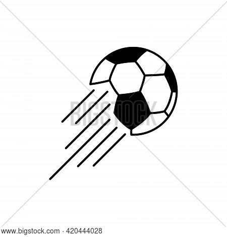 Soccer Ball, Simple Style, Icon. Vector Illustration Isolated On White Background
