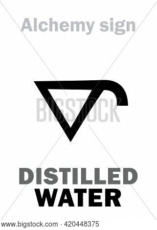 Alchemy Alphabet: Distilled Water (aqua Distillata, Aqua Purificata), Also: Aqua Pluvia (rainwater).