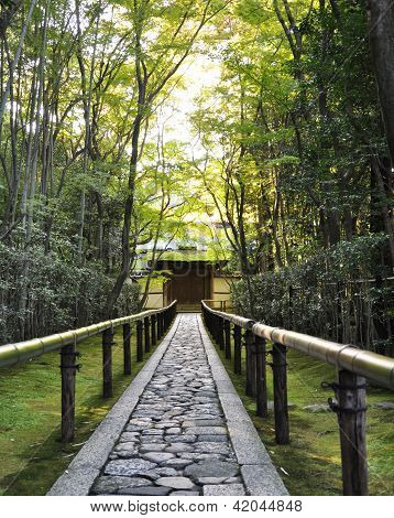 Approach road to Koto-in a sub-temple of Daitoku-ji - Kyoto Japan poster
