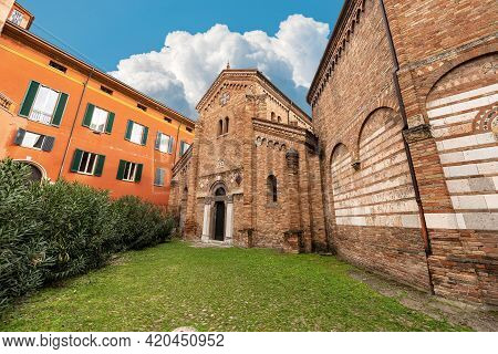 Bologna, Basilica Of Santo Stefano Or The Seven Churches, On The Left The Basilica Of Saints Vitale