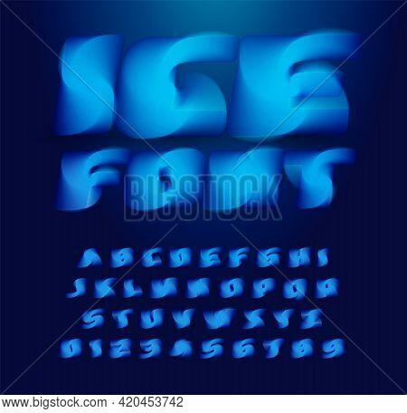 Ice Cube Alphabet. Abstract 3d Stunning Font, Contemporary Type For Logo, Headline, Monogram, Creati