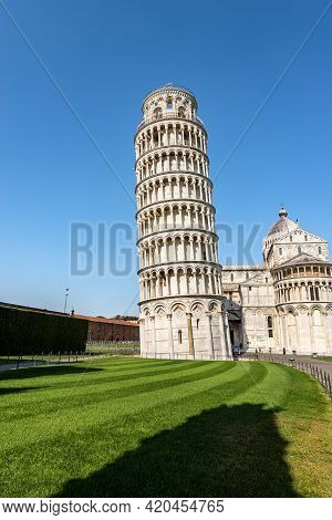 The Leaning Tower Of Pisa And The Cathedral (duomo Di Santa Maria Assunta), Piazza Dei Miracoli (squ