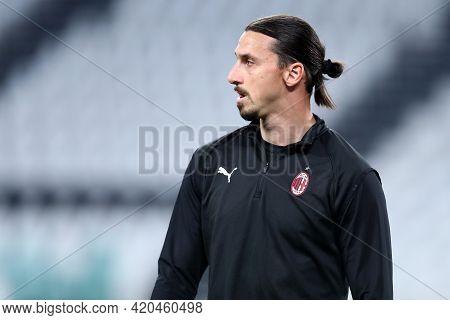 Torino, Italy. 09 May 2021. Zlatan Ibrahimovic Of Ac Milan  During The Serie A Match Between Juventu