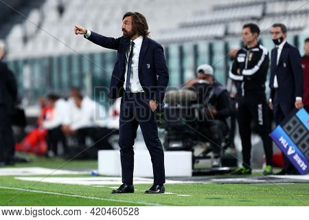 Torino, Italy. 09 May 2021. Andrea Pirlo Of Juventus Fc  During The Serie A Match Between Juventus F