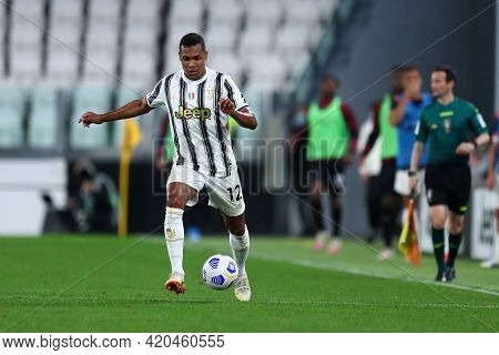 Torino, Italy. 09 May 2021. Alex Sandro Of Juventus Fc  During The Serie A Match Between Juventus Fc