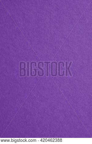The Surface Of Violet Cardboard. Paper Texture With Cellulose Fibers. Bright Purple Vertical Backgro