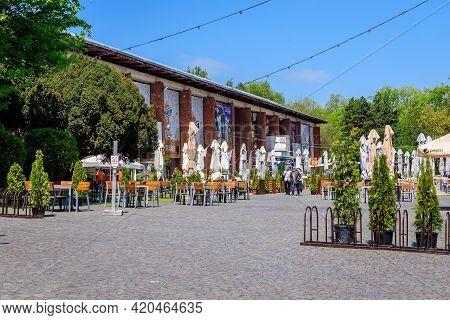 Bucharest, Romania - 30 April 2021: Entry To Beraria H Restaurant In King Michael I Park (herastrau)