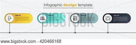 Set Line Curtain, Cinema Poster, Online Play Video And Retro Cinema Camera. Business Infographic Tem