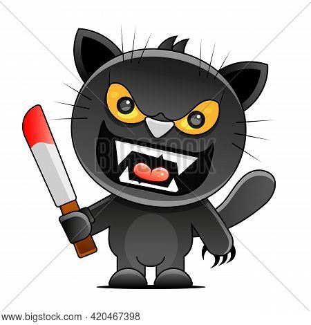 Friday 13 Grunge Illustration With Numerals And Black Cat. Vector Superstition Mystic