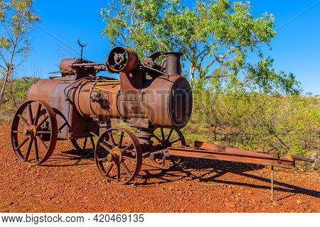 Tennant Creek, Australia - Aug 2019: Gold Melting Furnace Of Battery Hill Mining Center, Tennant Cre