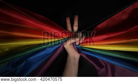 Lgbtq Pride Flag. Lesbian Gay Bi Sexsual Transgender Queer.