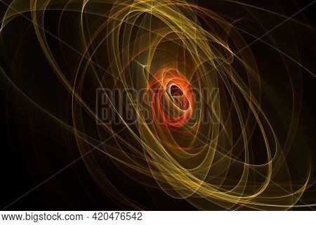 Exploding supernova , forminng of nebula. Black hole in the center of galaxy. Big bang concept. Supernova Blast in Space. The space of the universe. Nebula and plasma. Infinity.