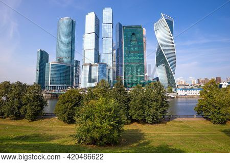 Moscow, Russia - September 01, 2018: View Of The Modern Business Center