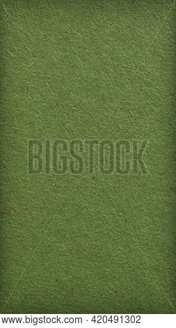 Green Cardboard Sheet. Eye-pleasing Mobile Phone Wallpaper With Vignetting. Olive Vertical Backgroun