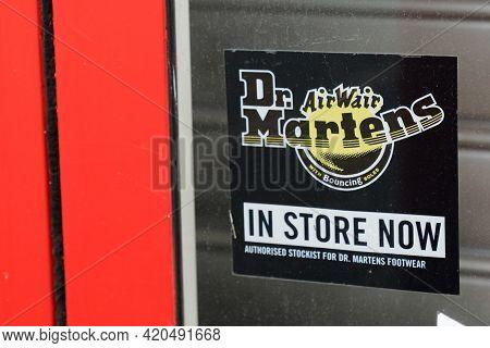 Bordeaux , Aquitaine France - 05 08 2021 : Dr Martens Authorised Stockist Dealer Store Logo Brand An