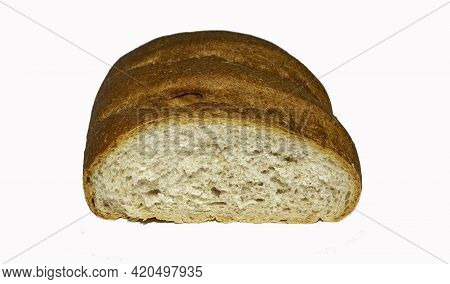 Loaf Of Bread, Sliced Bread Isolated On White, Loaf Of Bread Isolated On White