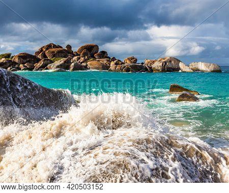 The Baths In Virgin Gorda, British Virgin Islands.