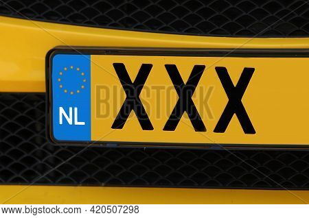 Three Big X Or Xxx Which Are The Symbol Of Amsterdam And The Car Registration Plate Of The Netherlan