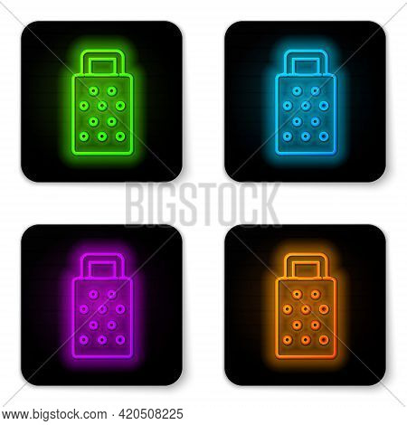 Glowing Neon Line Grater Icon Isolated On White Background. Kitchen Symbol. Cooking Utensil. Cutlery