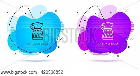 Line Sangria Pitcher Icon Isolated On White Background. Traditional Spanish Drink. Abstract Banner W