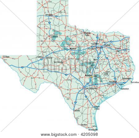 Texas Interstate Map